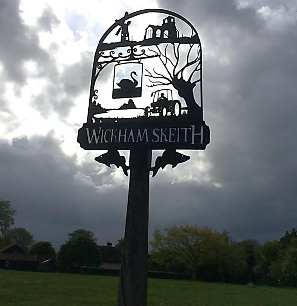 Village sign by Joy Homan